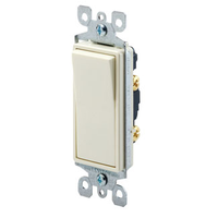 White - 15 Amp Max. - Rocker Switch - Single Pole - Paddle - 120/277 Volt