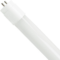 2 ft. T8 LED Tube - 1125 Lumens - 9W - 3000 Kelvin - 120-277V - Ballast Must Be Bypassed - Double-Ended Power Allows Use of Existing Sockets - TCP L9T8BY5030K