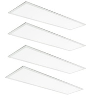 3600 Lumens - 5000 Kelvin Daylight White - 36 Watt - 1x4 Ceiling LED Panel Light - Equal to a 2-Lamp T8 Fluorescent Troffer - Opaque Smooth Lens - 4 Pack - 5-Year Warranty
