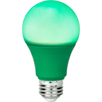 Green - LED - A19 Party Bulb - 9 Watt - 60W Equal - Medium Base