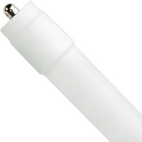 8 ft. T8 LED Tube - 5400 Lumens - 43W - 4000 Kelvin - 120-277V - Ballast Must Be Bypassed - Double-Ended Power Allows Use of Existing Sockets - Case of 10 - Halco 82875