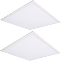 4400 Lumens - 3500 Kelvin Halogen White - 40 Watt - 2x2 Ceiling LED Panel Light - Equal to a 2-Lamp T8 Fluorescent Troffer - Acrylic Smooth Lens - 90 Minute Emergency Backup - 2 Pack - 5 Year Warranty - GlobaLux RLP-22-40-MVD-835-EML8