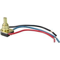 3 Way Push Button - On/Off Canopy Switch - 6 Amp - Double Circuit - Polished Brass - 125 Volt - PLT 55-3746-10
