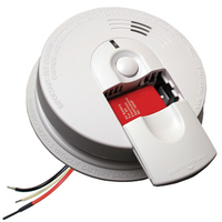 Kidde I4618 - Smoke Alarm - Single Sensor - Detects Flaming Fires - 120V Wire-in with Battery Backup - Front Battery Access - Interconnectable