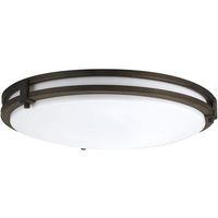 16 in. LED Flush Mount Ceiling Fixture - 24 Watt - 1600 Lumens -   200W Incandescent Equal - 4000 Kelvin - Dimmable - 120V - Lithonia FMSATL