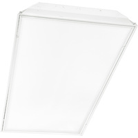 2 Lamp - 2 x 4 LED Recessed Troffer - Clear Prismatic Lens - Operates Any Single-Ended Direct Wire LED Lamps (Sold Separately)