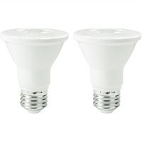 500 Lumens - LED PAR20 - 5.5 Watt - 50 Watt Equal - 3000 Kelvin - 40 Deg. Flood - Dimmable - 120 Volt - 2 Pack - Euri Lighting EP20-5000CECW-2