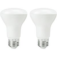 LED BR20 - 5.5 Watt - 50 Watt Equal - Halogen Match - 525 Lumens - 3000 Kelvin - 2 Pack - Euri Lighting EB20-5000CEC-2
