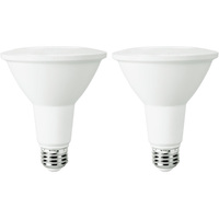 900 Lumens - 3000 Kelvin - LED - PAR30 Long Neck - 10 Watt - 75W Equal - 40 Deg. Flood - CRI 90 - 2 Pack - Euri Lighting EP30-5000CECW-2