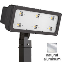 31,300 Lumens - LED High Output Flood Fixture - Comes with Integral Slipfitter - 295 Watt - 5000 Kelvin - Natural Aluminum Finish - Height 10 in. - Width 25 in. - 120-277V - Lithonia HLF1 LED