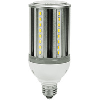 2200 Lumens - 18 Watt - LED Corn Bulb - 70W Metal Halide Equal - 3000 Kelvin - Medium Base - 120-277V - 1 Year Warranty