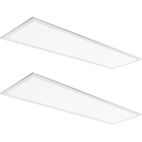 4400 Lumens - 5000 Kelvin Daylight White - 40 Watt - 1x4 Ceiling LED Panel Light - Equal to a 2-Lamp T8 Fluorescent Troffer - Opaque Smooth Lens - 90 Minute Emergency Backup - 2 Pack - 5 Year Warranty