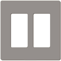 Gray - Screwless - 2 Gang - Decorator Wall Plate - Lutron Claro CW-2-GR