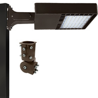 18,000 Lumens - 4000 Kelvin - 150 Watt - LED Parking Lot Fixture - Type III - 120-277V - Comes with Slipfitter and Mounting Arm - Equal to a 400W Metal Halide and Uses 63% Less Energy