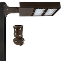 24,000 Lumens - 4000 Kelvin - 200 Watt - LED Parking Lot Fixture - Type III - 120-277V - Comes with Slipfitter and 6 in. Mounting Arm - 37% Brighter Than 400W Metal Halide and 50% Less Energy
