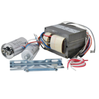 Plusrite 7266 - 175 Watt - Metal Halide Ballast - ANSI M57 - 5 Tap - Power Factor 90% - Max. Temp. Rating 212 Deg. F - Includes Oil Filled Capacitor and Bracket Kit
