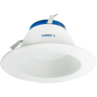 650 Lumens - 6 in. Retrofit LED Downlight - 8.5W - 65W Equal - 5000 Kelvin - Smooth Baffle Trim - Dimmable - 120V - Cree DR6-650L-50K-B1
