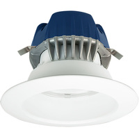 575 Lumens - 4 in. Retrofit LED Downlight - 9.5W - 50W Equal - 3000 Kelvin - Smooth Baffle Trim - Dimmable - 120V - Cree CR4-575L-30K-12-E26