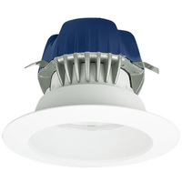 575 Lumens - 4 in. Retrofit LED Downlight - 9.5W - 50W Equal - 3000 Kelvin - Smooth Baffle Trim - Dimmable - 120V - Cree CR4575L30K12GU24