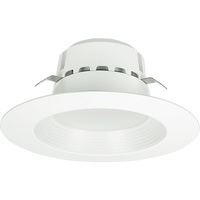 4 in. LED Downlight - 13 Watt - 75 Watt Equal - Daylight White - 800 Lumens - 5000 Kelvin - 90 CRI - Stepped Baffle Trim - 120V - Euri Lighting DLC4-1050E