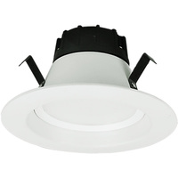 600 Lumens - 4 in. Retrofit LED Downlight - 10W - 50W Equal - 2700 Kelvin - Smooth Baffle Trim - Dimmable - 120V - GCP 601