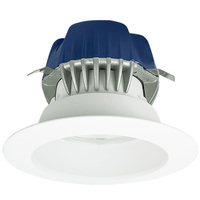 575 Lumens - 4 in. Retrofit LED Downlight - 9.5W - 50W Equal - 2700 Kelvin - Smooth Baffle Trim - Dimmable - 120V - Cree CR4-575L-27K-12-GU24