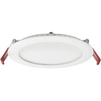 Lithonia WF6 - 6 in. Ultra Thin LED Downlight - 13 Watt - 90 Watt Incandescent Equal - 1020 Lumens - 3000 Kelvin - Round - Lensed Trim - Dimmable - 120 Volt