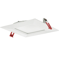 Lithonia WF6 - 6 in. Ultra Thin LED Downlight - 14 Watt - 60 Watt Incandescent Equal - 880 Lumens - 3000 Kelvin - Square - Lensed Trim - Dimmable - 120 Volt
