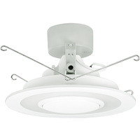 730 Lumens - 6 in. LED Bluetooth Speaker Downlight - 13W - 65W Equal - 4000 Kelvin - Wirelessly Connect Up to 8 Modules - White Trim - Dimmable - Lithonia 6SL