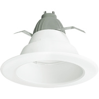 625 Lumens - 6 in. Retrofit LED Downlight - 9.5W - 65W Equal - 4000 Kelvin - Smooth Baffle Trim - Dimmable - 120V - Cree CR6625L40K12GU24