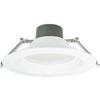 8 in. LED Downlight - 12, 19, 27 Watt - 1860 Lumens - 2700 Kelvin - Wattage Selectable Fixture - 120-277 Volt - Green Creative 57873