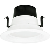 4 in. LED Downlight - 10 Watt - 75 Watt Equal - Halogen Match - 750 Lumens - 3000 Kelvin - 82 CRI - Smooth Baffle Trim - 120V - TCP LED10DR430K