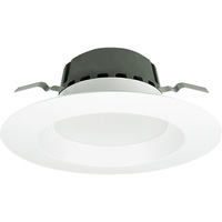 700 Lumens - 6 in. Retrofit LED Downlight - 11W - 65 Watt Equal - Warm Dimming from 2700-2200 Kelvin - Round - Stepped Baffle - Dimmable - Green Creative 58100