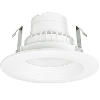 675 Lumens - 4 in. Retrofit LED Downlight - 10W - 65W Equal - 3000 Kelvin - Stepped Baffle Trim - Dimmable - 120V