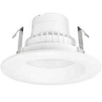 675 Lumens - 4 in. Retrofit LED Downlight - 10W - 65W Equal - 4000 Kelvin - Stepped Baffle Trim - Dimmable - 120V