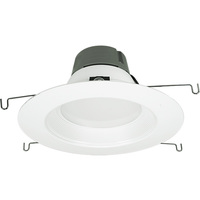 5-6 in. LED Downlight - 12 Watt - 75 Watt Equal - Halogen Match - 840 Lumens - 3000 Kelvin - 90 CRI - Stepped Baffle Trim - 120V - Green Creative 97992