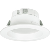 4 in. LED Downlight - 10 Watt - 50 Watt Equal - Daylight White - 650 Lumens - 5000 Kelvin - 90 CRI - Smooth Baffle Trim - 120V - Halco 99636