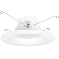 800 Lumens - 6 in. Retrofit LED Downlight - 12W - 75W Equal - 3000 Kelvin - Smooth Baffle Trim - Dimmable - 120V - Halco 99642