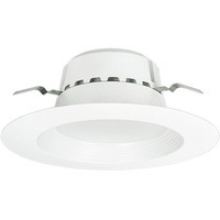 800 Lumens - 5-6 in. Retrofit LED Downlight - 13.5W - 75W Equal - 4000 Kelvin - Stepped Baffle Trim - Dimmable - 120V - Euri Lighting DLC-2040E