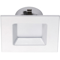 560 Lumens - 4 in. Retrofit LED Downlight - 10W - 50W Equal - 3000 Kelvin - Square - Smooth Baffle Trim - Dimmable - 120V - Halco 99953