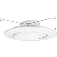 800 Lumens - 6 in. Retrofit LED Downlight - Adjustable Eyeball Trim - 12W - 60W Equal - 3000 Kelvin - Smooth Baffle Trim - Dimmable - 120V