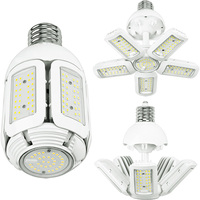 7800 Lumens - LED Corn Bulb - Adjustable Beam Angle - 60 Watt - 250W Metal Halide Equal - 5000 Kelvin - Mogul Extended Base - 120-277V