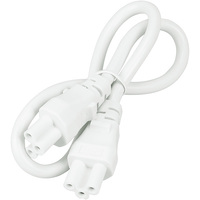 18 in. - Linkable Cord - for Lithonia Plug-and-Play LED Lightbars - Lithonia MNLK LINKABLE CORD WH M6