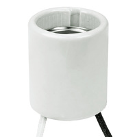 Medium Base HID Socket - 4000kV Pulse Rating - 9 in. Leads - No. 18 AWG - 600 Watt Maximum - 600 Volt Maximum - PLT 40-2609-99