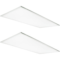 5000 Lumens - 5000 Kelvin Daylight White - 40 Watt - 2x4 Ceiling LED Panel Light - Equal to a 3-Lamp T8 Fluorescent Troffer - Opaque Smooth Lens - 2 Pack - 5 Year Warranty