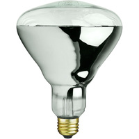 125 Watt - BR40 - IR Heat Lamp - Clear - 5,000 Life Hours - 120 Volt