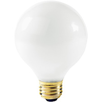 25 Watt - G25 Globe Incandescent Light Bulb - Frosted - Medium Brass Base - 130 Volt - Halco 5002
