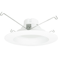 1260 Lumens - 6 in. Retrofit LED Downlight - 18W - 115W Equal - 3000 Kelvin - Stepped Baffle Trim - 120V - Euri Lighting DLC-5000e
