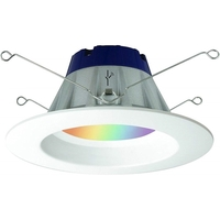 5-6 in. Retrofit Downlight LED Smart Lighting - RGB and White Color Adjustable - Compatible ZigBee hub is required to control