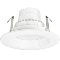 550 Lumens - 4 in. Retrofit LED Downlight - 9W - 50W Equal - 2700 Kelvin - Stepped Baffle Trim - Dimmable - 120V - TCP L9DR4D3527K95